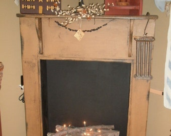 Fireplace Mantle  / faux/ surround / primitive fireplace