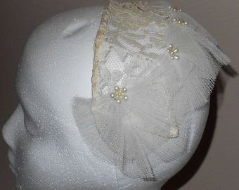 Vintage Wedding Headpiece - Lace Wedding Headpiece - Vintage Headpiece - Lace Headpiece