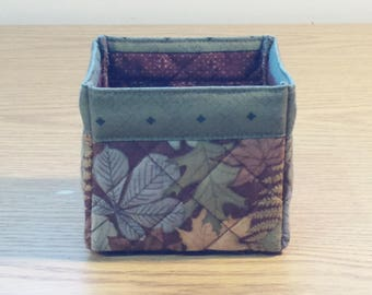 Quilted Fabric Box (TGBX01) Leaves