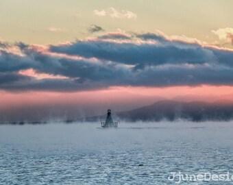 lighthouses,photography,prints,Vermont,sunsets,New England,landscapes,Burlington,nature,winter,clouds,landscapes,pink,