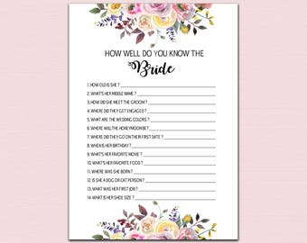 Bridal Shower Games Package Yellow And Gold Printable