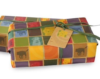 Dog photo illustration wrapping paper. 1 sheet