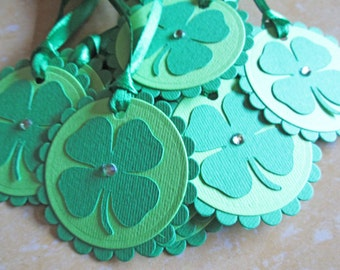 St. Patrick's Day Tags, Shamrock Tags, Clover Tags, St. Patrick's Day Gift Tags, St. Pattys Day Tags, Irish Tags, Gift Tags, Favor Tags