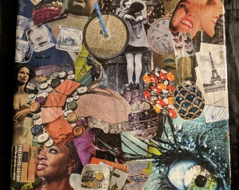 "Handmade collage wall art ""Change"""