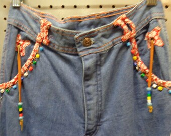 VINTAGE Authentic 1970's gals stonewash Blue Jean Bell Bottoms (available)