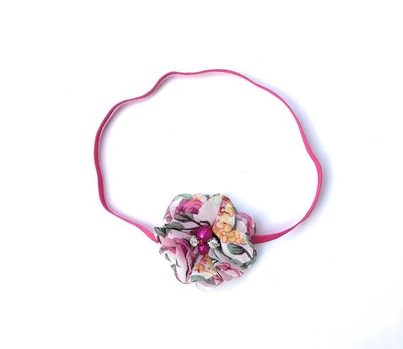 Hot Pink Headband, Flower Headband for Girls, Easter Headband for Girls, Flower Headband, Baby Headband Baby, Headbands, Newborn Headband