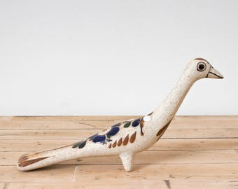 Tonala Pottery Ceramic Bird, Mexican Folk Art