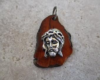 Christ face pendant