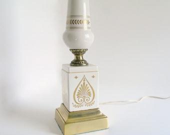 Vintage Hollywood Regency Ceramic Table Lamp, Mid Century Home Decor