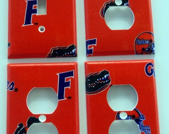 University of Florida Gators Light Switch Plate Outlet Cover Wall Decor Bundle Set