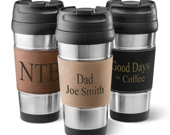 Personalized Leather Wrapped Insulated Tumblers - Personalized  Travel Tumbler - Personalized Tumbler - Personalized Gifts for Her - GC1362