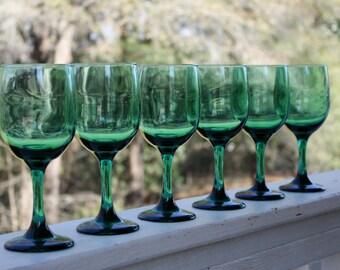 Libbey Juniper Wine Glasses Stemmed Glassware Libbey Rock-Sharpe Water  Glasses Set Goblets Set 6