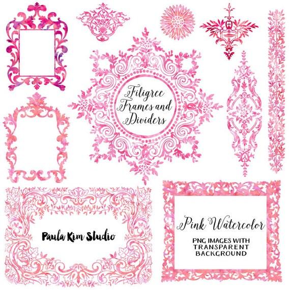 Pink Wedding Borders Clip Art