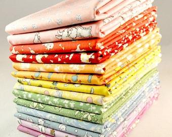 Designer Fabric 30's Reproduction Prints Fat Eighths Bundle, 14 pieces