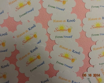 end of school year tags, end of school year party, end of school year favor tags, summer favor tags