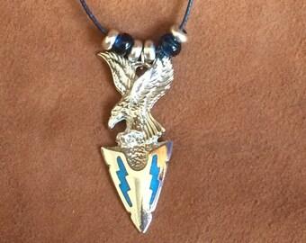 Eagle and Arrowhead - Pendant Necklace