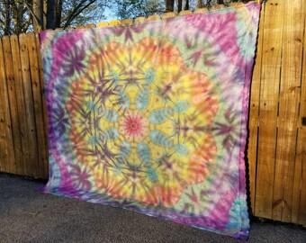 Funky Flower Mandala Tie Dye Tapestry