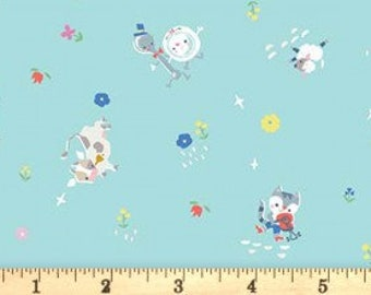 Once Upon a Rhyme - C8023 Aqua - 1/2yd
