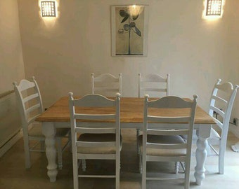 Stunning 6ft Table and Six Chair Set