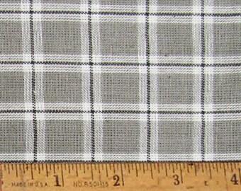 "Magnolia Gray 6 Homespun Cotton Fabric (Full Yard 36"" x 44"")"