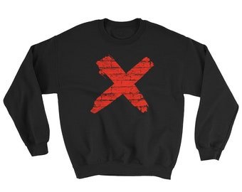 "Red ""X"" End Slavery #enditmovement Sweatshirt"