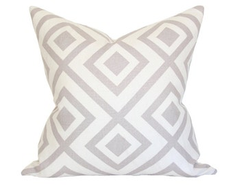 La Fiorentina Grey & Ivory - David Hicks - Designer Pillow Cover - Made-to-Order - Lee Jofa