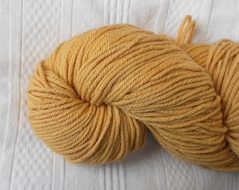 Honey worsted-weight yarn