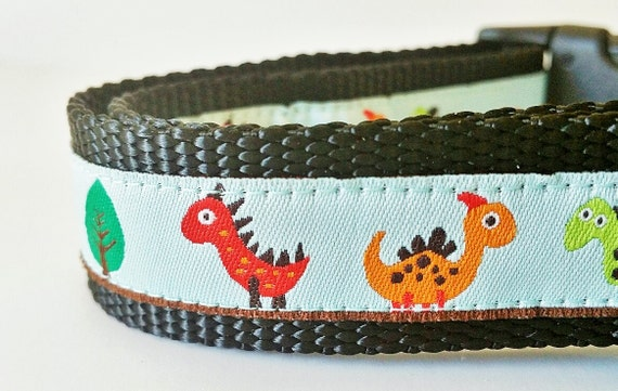 The Prehistoric Pup - Dog Collar / Handmade / Adjustable / Pet Accessories / Pet Lovers/ Dinosaurs