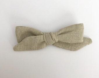 Oatmeal Linen Bow