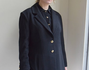 Black Knit Blazer  |  Print Optional