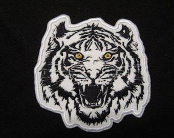 Embroidered Tiger Iron On Patch, Tiger Patch, Tiger Applique, Iron ON Tiger Patch, Iron On Tiger Applique