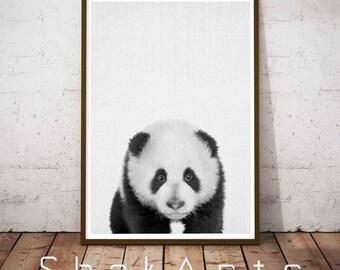 Panda Poster, Panda Wall Print, Panda Nursery Decor, Panda Wall Decor, Panda Nursery Art, Print Art Animal, Panda Art Poster, Nursery Panda