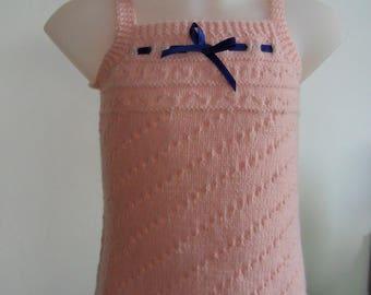 "Dress pink ""Princess Léa"" for daughter 3/6 months"