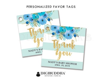 FAVOR TAGS Baby Shower Favor Tags Thank You Tags Bridal Shower Favor Tag Label Tags Gift Tag Party Favor Tag DIY Printable or Printed - Mady