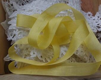 "Yellow Seam Binding Ribbon , 3 Yards - Yellow- Packaging Gift Wrap - 1/2"" Trim - Craft Supply"