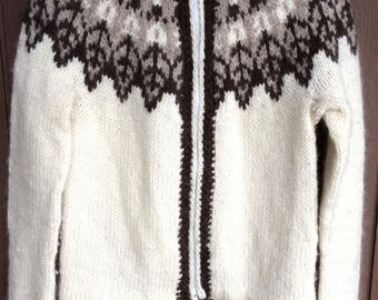Icelandic sweater,Iceland pullover,Iceland sweater,Lopapeysa,outwear,birthday gift,Ready to ship,women size S,100% Icelandic pure yarn