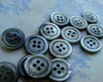 One Dozen Vintage Buttons Rainfall Collection