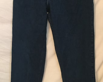1980's  1990's Gitano High Waisted Denim jeans Very Dark Blue (Indigo)