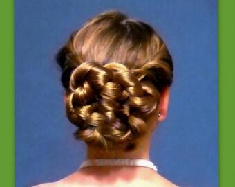 bridal wedding accessory hair piece hairpiece formal hair bun