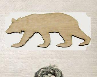 Bear Wood Cut Out - Laser Cut