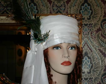 "Women's Arabian Turban Headdress Hat ""Princess Jasmine"" Dolley Madison Turban Arab"