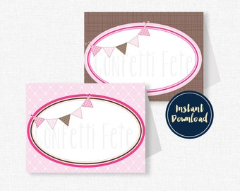 Cowgirl Food Labels, Cowgirl Buffet Cards, Western Party Decorations, Cowgirl Birthday, Printable Food Labels INSTANT DOWNLOAD
