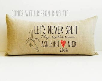a, ring bearer pillow, personalized name pillow, alternative pillow, pillow for wedding, ring holder, ring bearer pillow for weddings