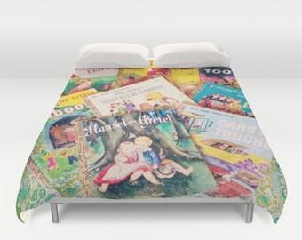 Little Golden Books Comforter or Duvet Cover: bedding, decor, children's books, vintage books