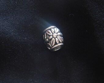 Silver Sunflower Bead