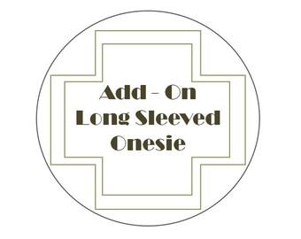 Add-On: White Long Sleeved Onesie