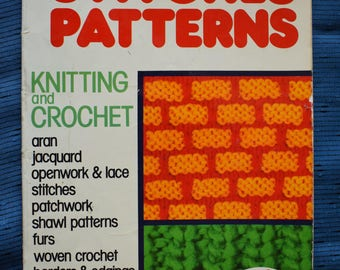 Mon Tricot KNITTING DICTIONARY Stitches Patterns Knit Crochet Aran Jacquard Openwork Lace Patchwork Shawl Borders Edgings Fringe