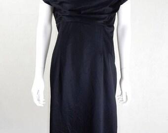 Original Vintage 1950s Kitty Copeland Little Black Dress UK Size 12