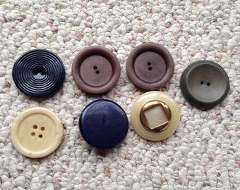 Vintage Large Plastic Button Lot