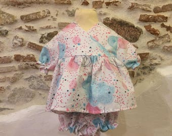 Set baby girl pink and blue T:3 / 6 months